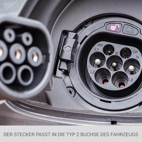 Typ 2 Ladekabel für Elektroautos Typ 2 Mennekes Stecker 3 Phasen Ladekabel 22kW